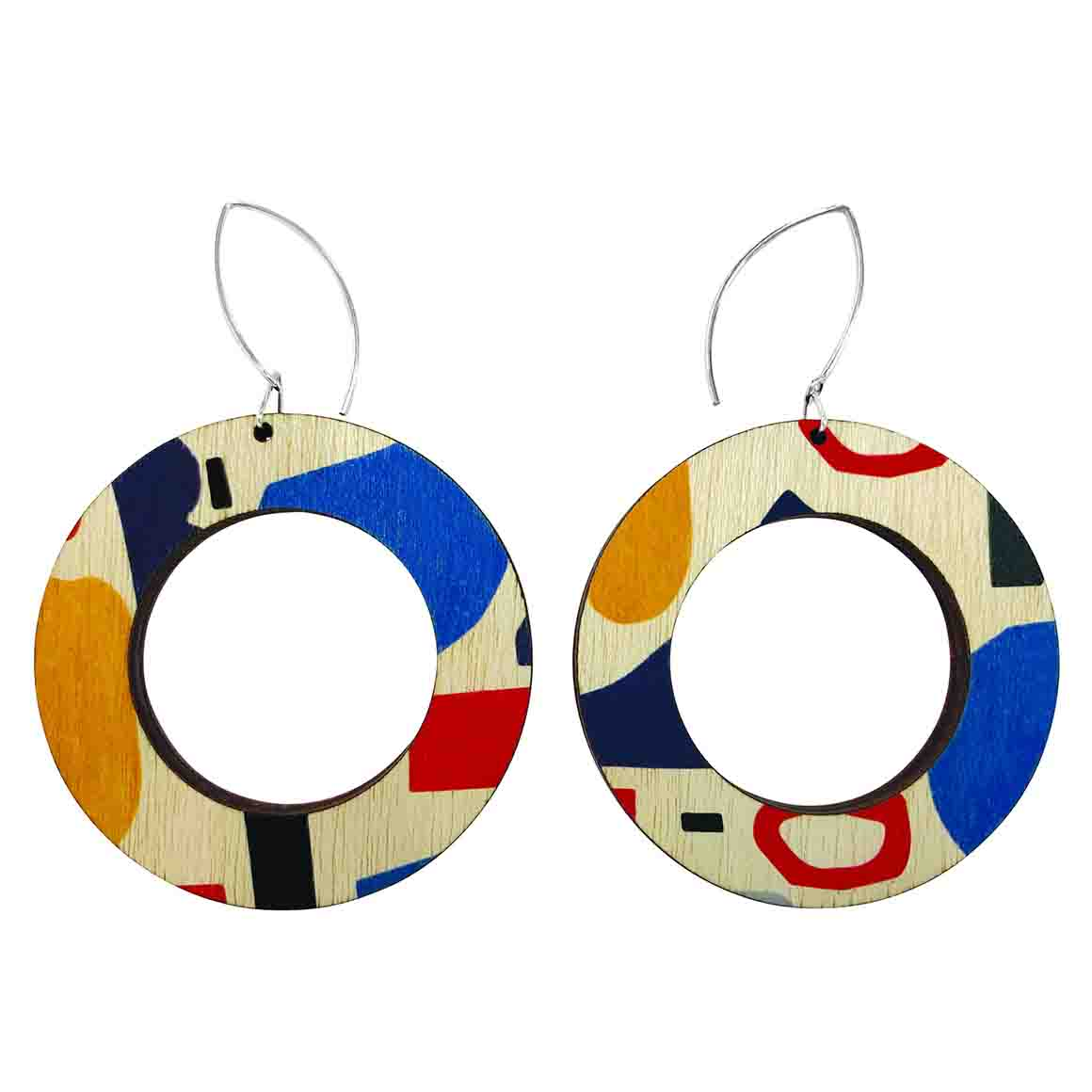 Abstract shapes hoop earrings   Trada Marketplace