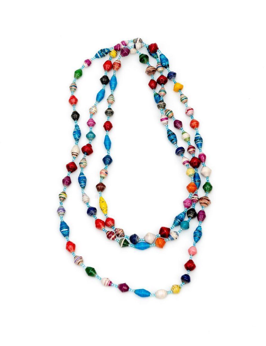 Long multi-coloured necklace | Trada Marketplace