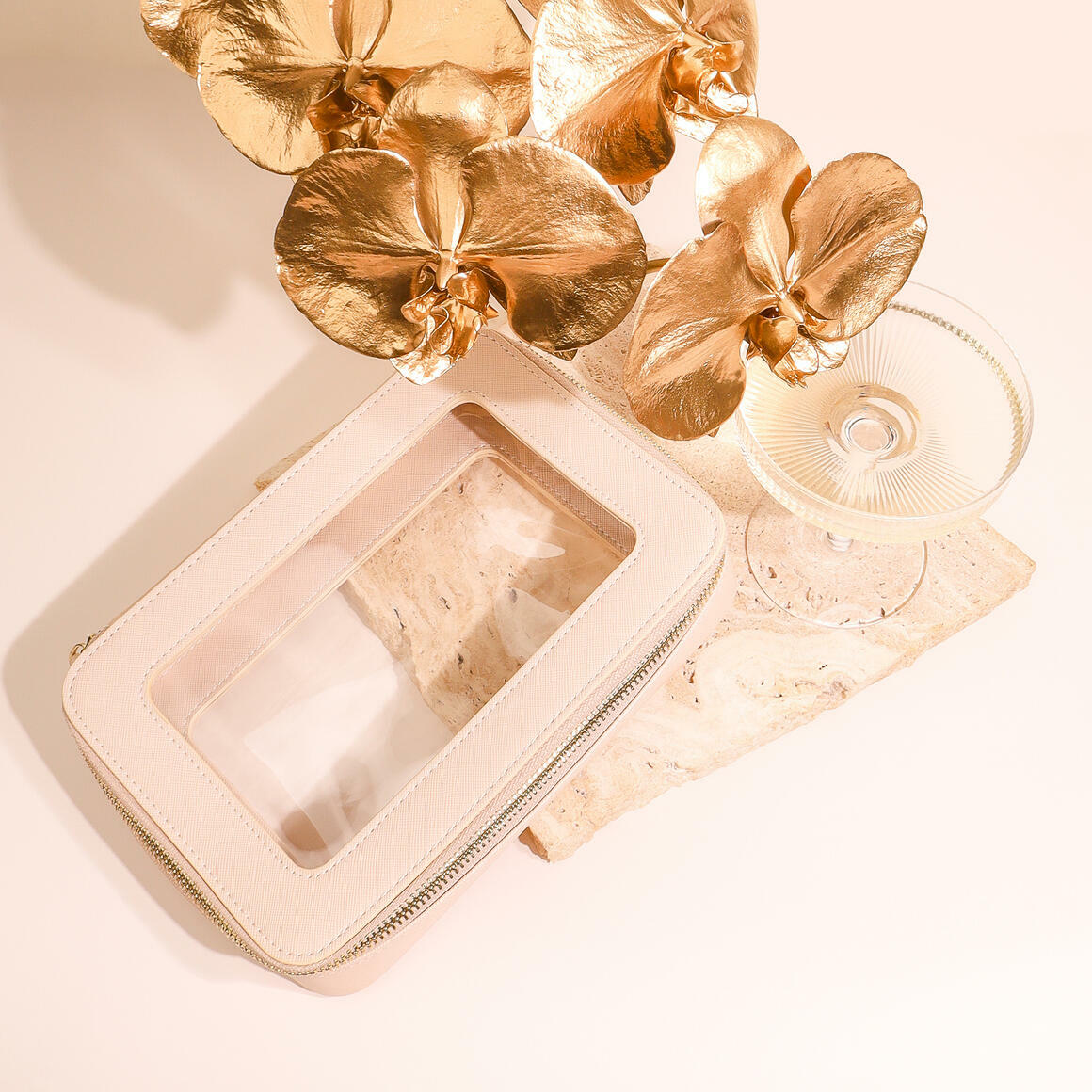 Latte Cosmetic Bag-Medium | Trada Marketplace