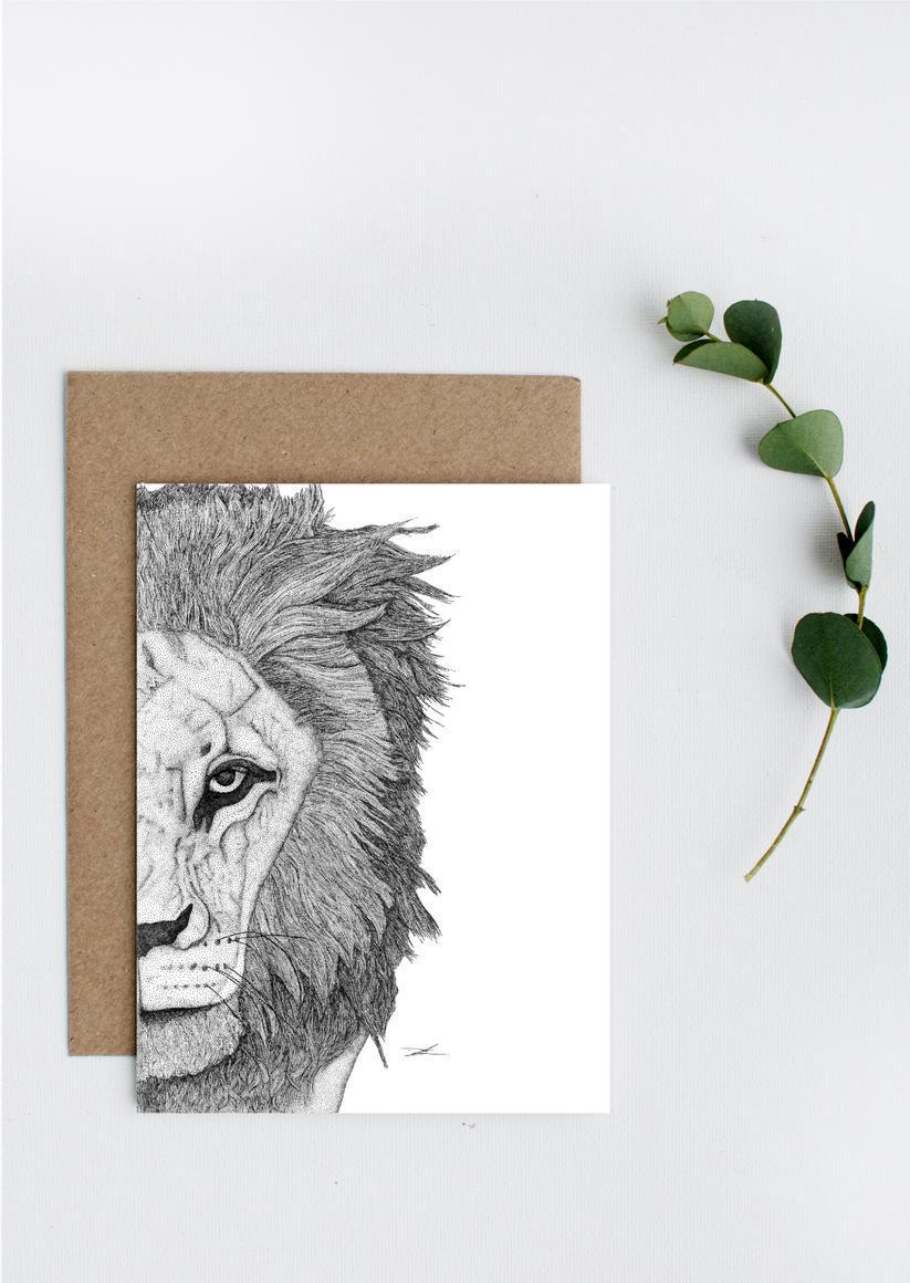 Leo the Lion Greeting Card   Trada Marketplace