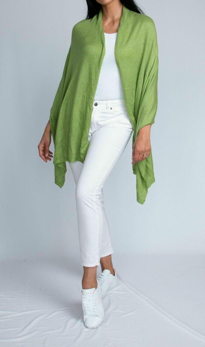 Cashmere Travel Wrap | Pear Green | Trada Marketplace