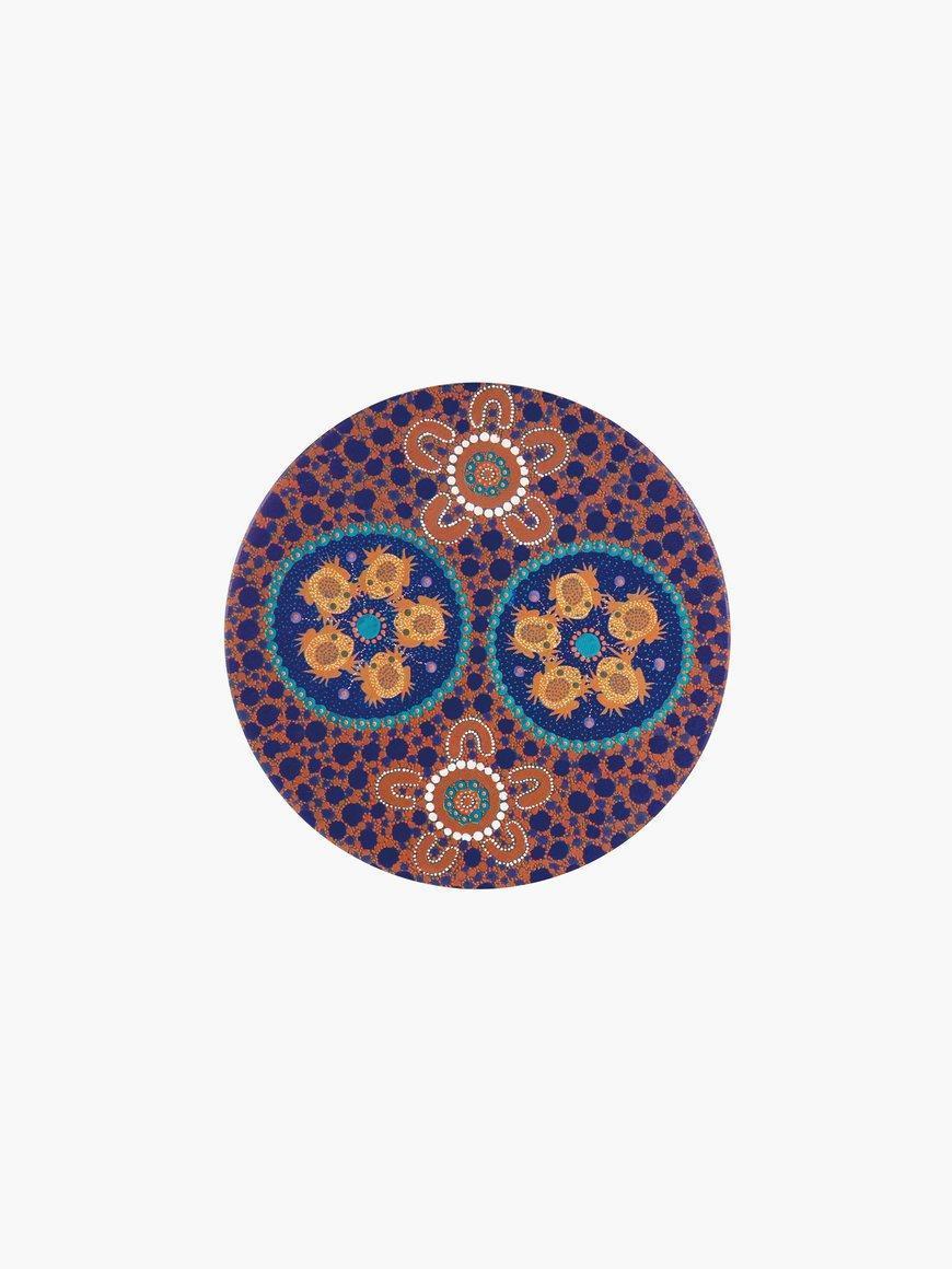 Aboriginal Desert Frogs Ceramic Coaster | Trada Marketplace