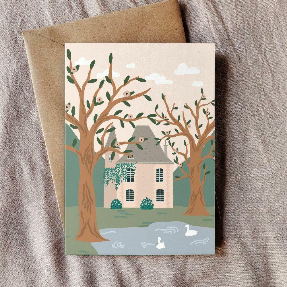 Country House Greeting Card   Trada Marketplace