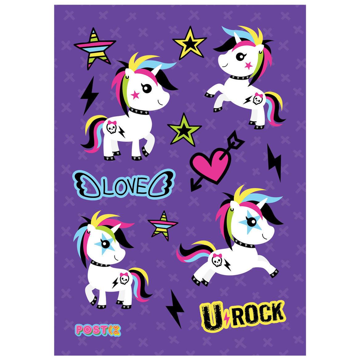 U-ROCK UNICORN A6 GLOSSY STICKER SHEET   Trada Marketplace