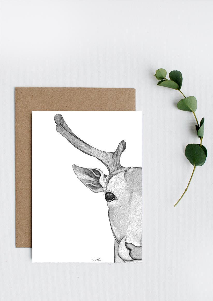Daphne the Deer Greeting Card   Trada Marketplace