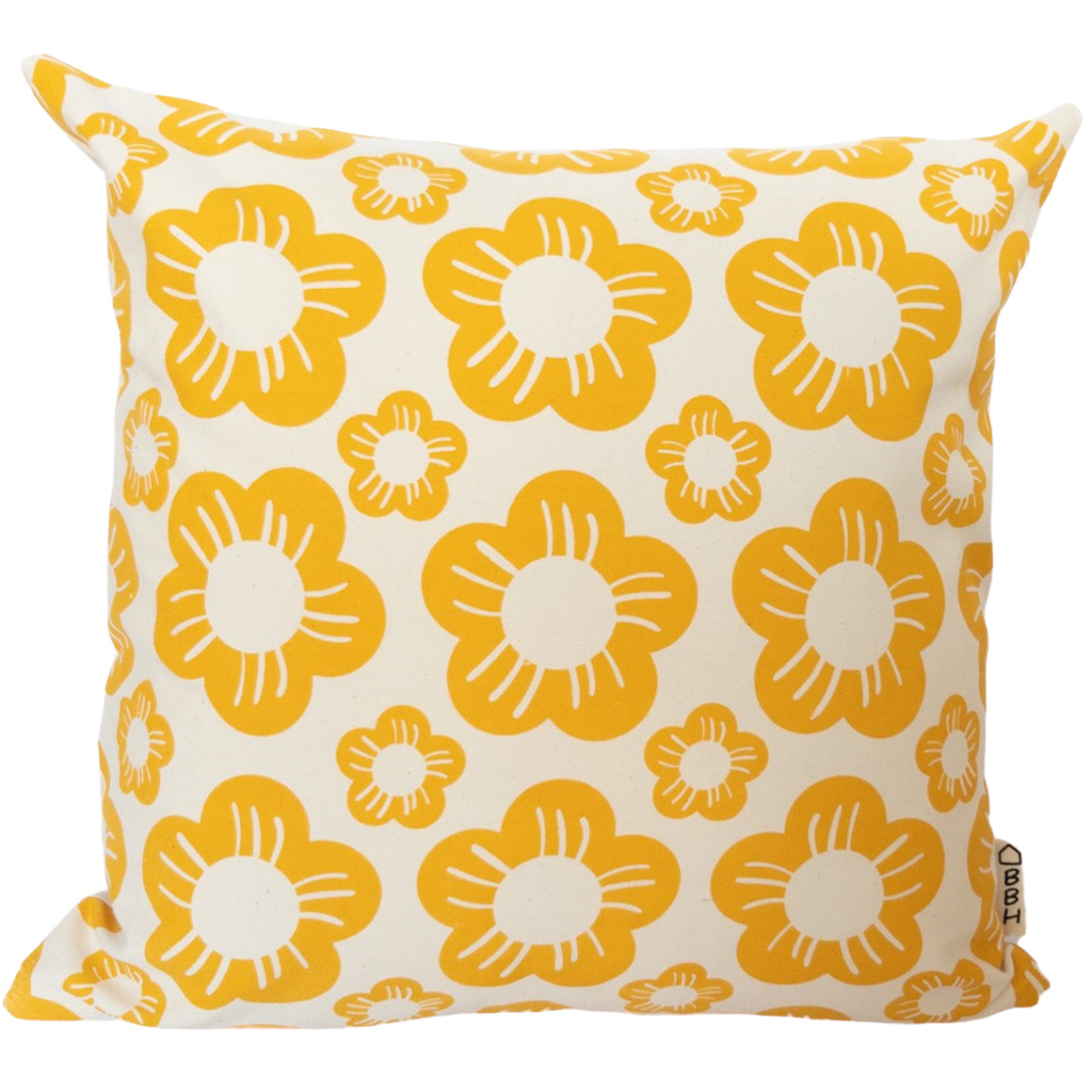 Vintage Inspired Flower Head Hand Screen Printed 100% cotton cushion cover-3 Colourways-Cover Only | Trada Marketplace
