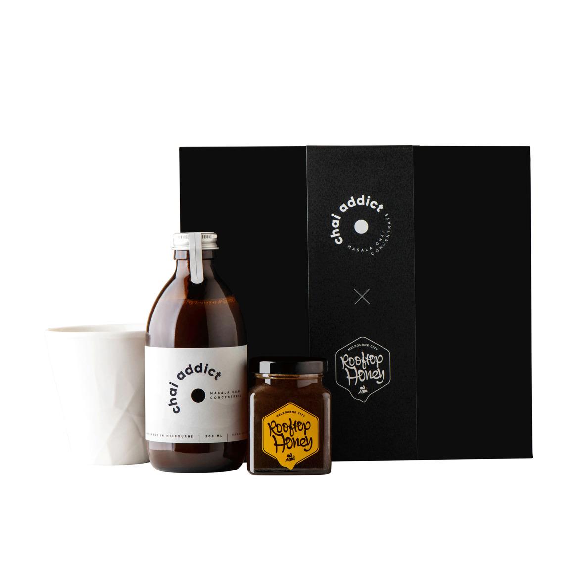 Chai addict x rooftop honey gift box (starter box) | Trada Marketplace