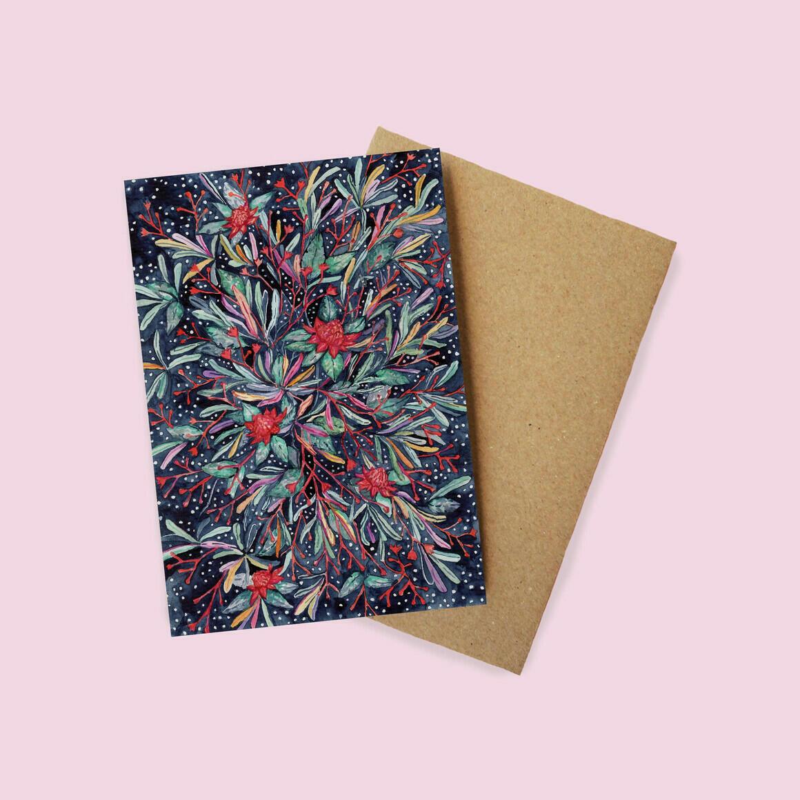 Greeting Card - Waratah and Banksia | Trada Marketplace