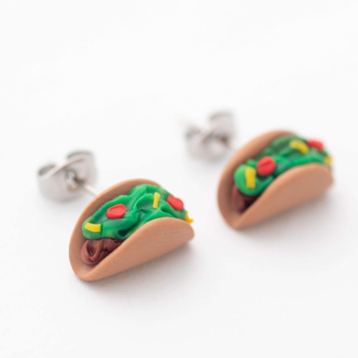 Taco handmade stud earrings   Trada Marketplace