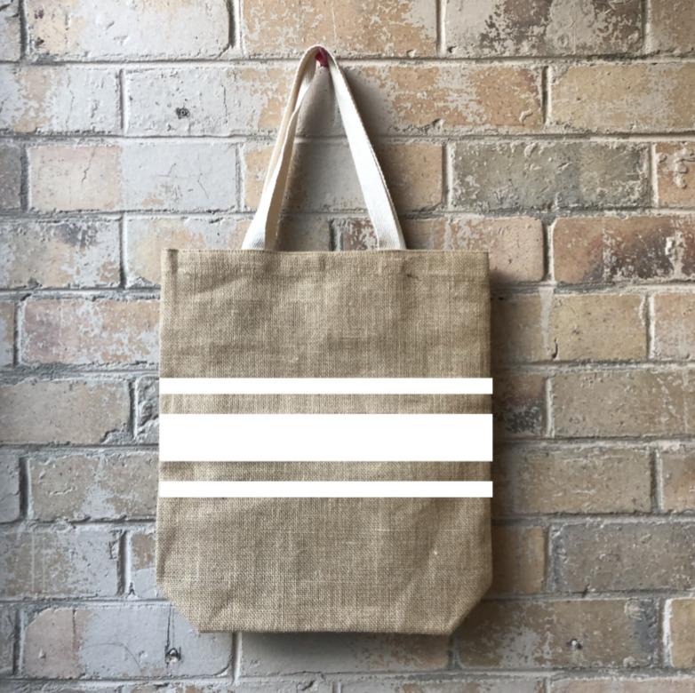 Striped for Success Casual Shopper White   Trada Marketplace