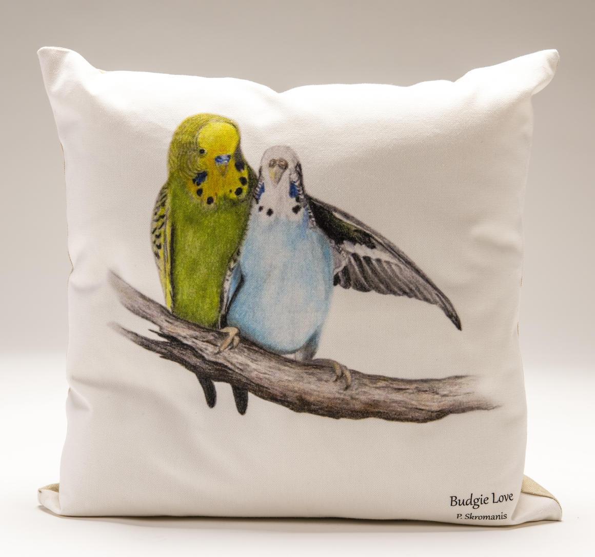 Cushion Covers - Budgie Love   Trada Marketplace
