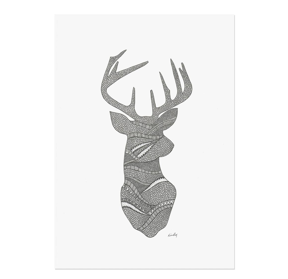Deer Drawing Print | Trada Marketplace