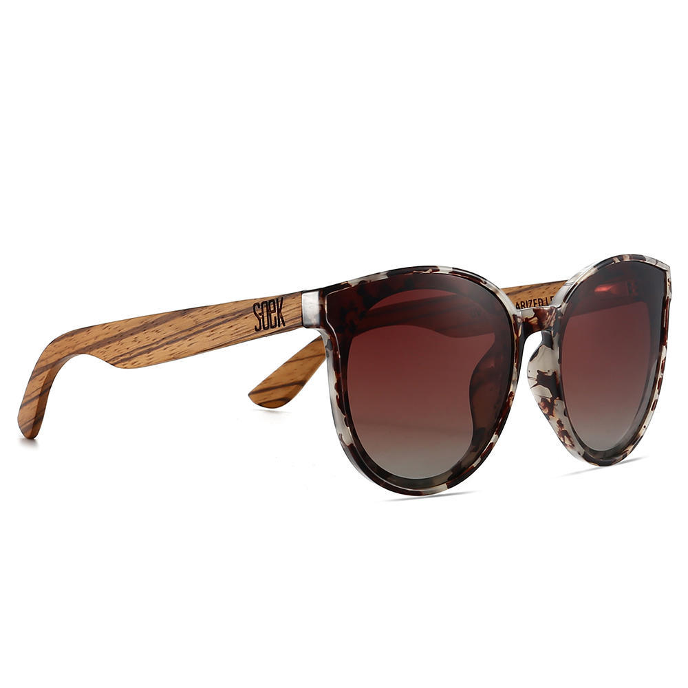 BELLA IVORY TORTOISE - Brown Polarised Graduated Lens with Walnut Arms | Trada Marketplace