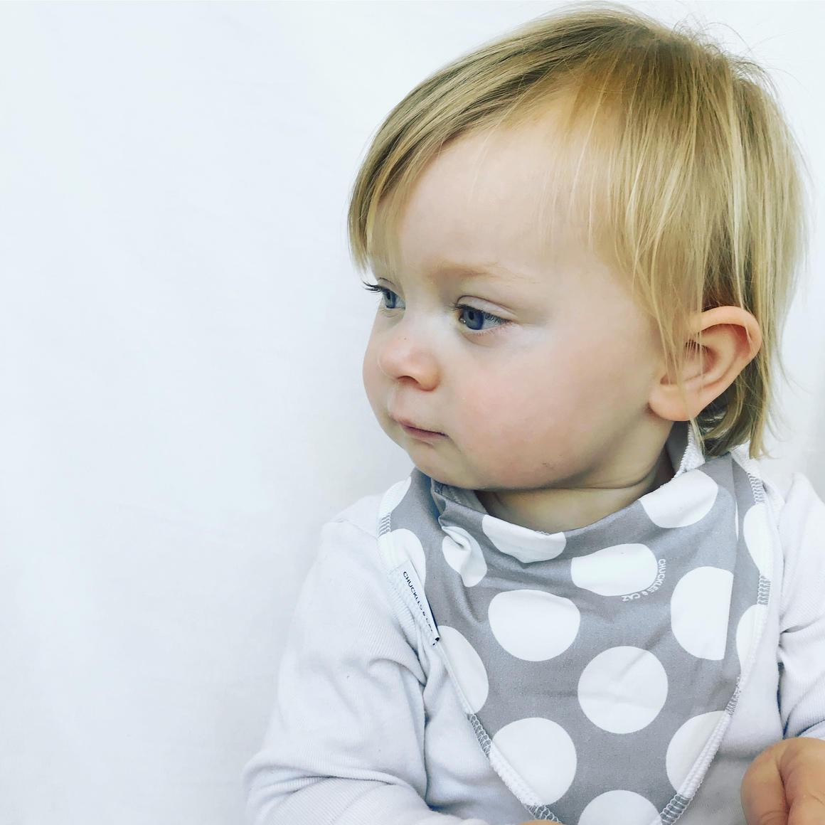 Grey Spot Dribble Bib | Trada Marketplace