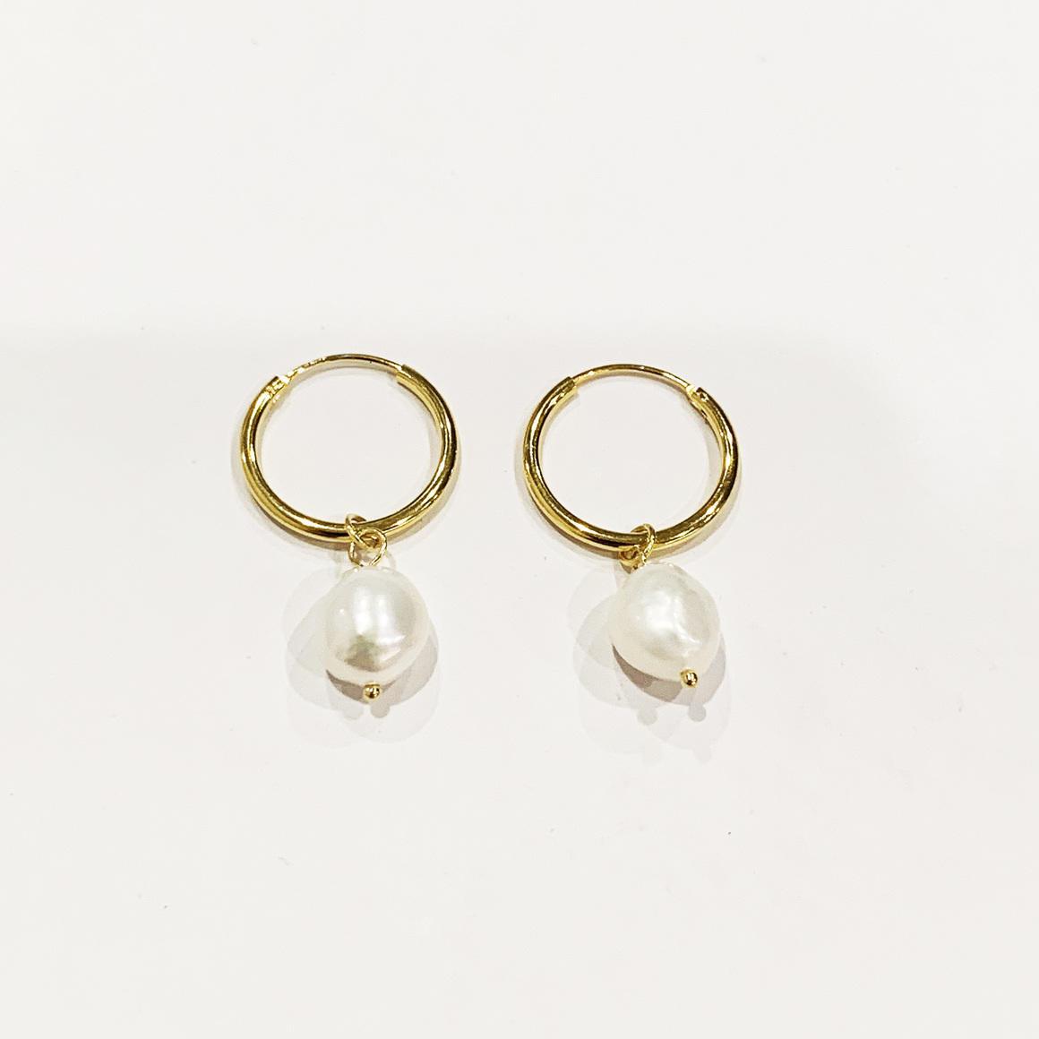Hoop Pearl Earrings | Trada Marketplace