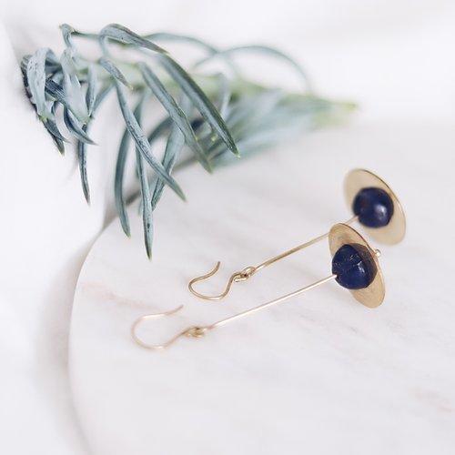 Energising Orbit Blue Lapis Earrings | Trada Marketplace