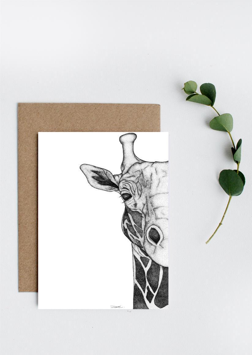 Georgi the Giraffe Greeting Card   Trada Marketplace