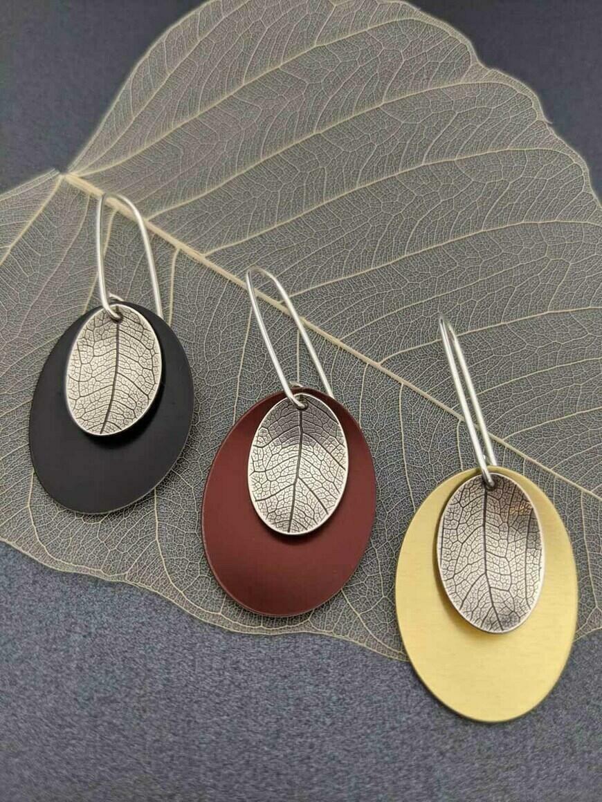 AUTUMN – long leaf earrings   Trada Marketplace