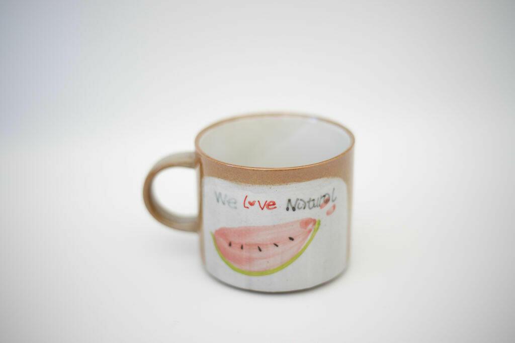 We Love Natural Mug-Watermelon   Trada Marketplace