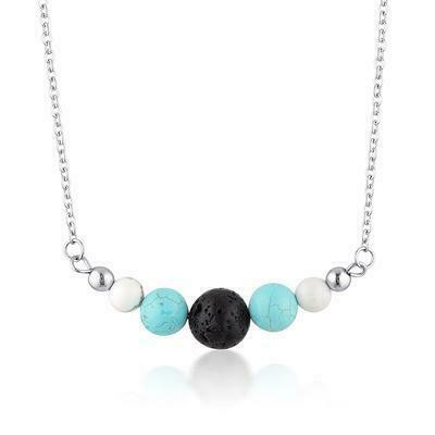 Turquoise & Howlite Diffuser Necklace   Trada Marketplace