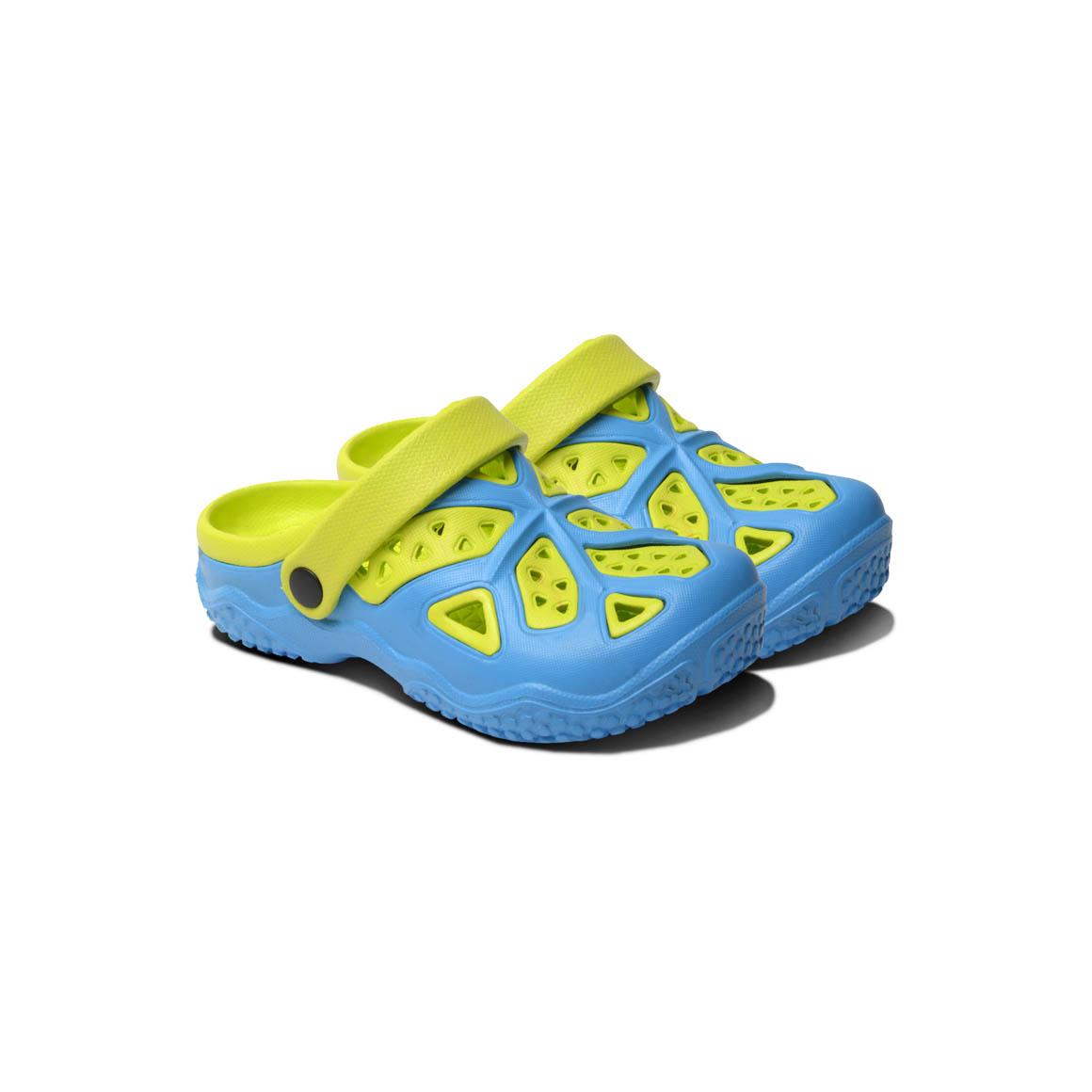 Kids Lightweight Clogs - Blue/Lime | Trada Marketplace