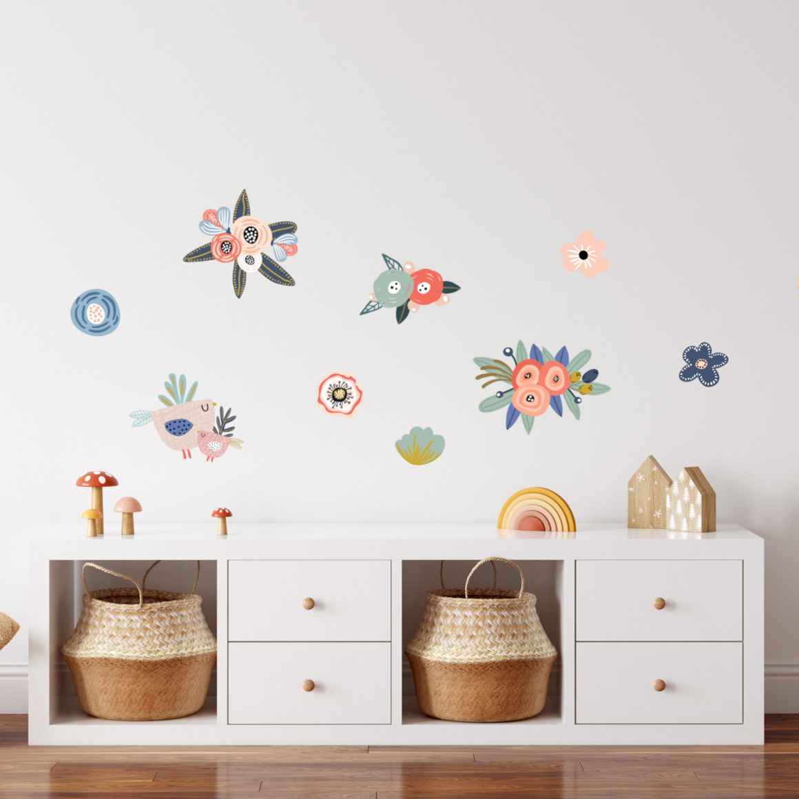 Fabric wall decals - In the garden   Trada Marketplace