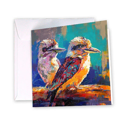 Pair of Kookaburras Greeting Card | Trada Marketplace