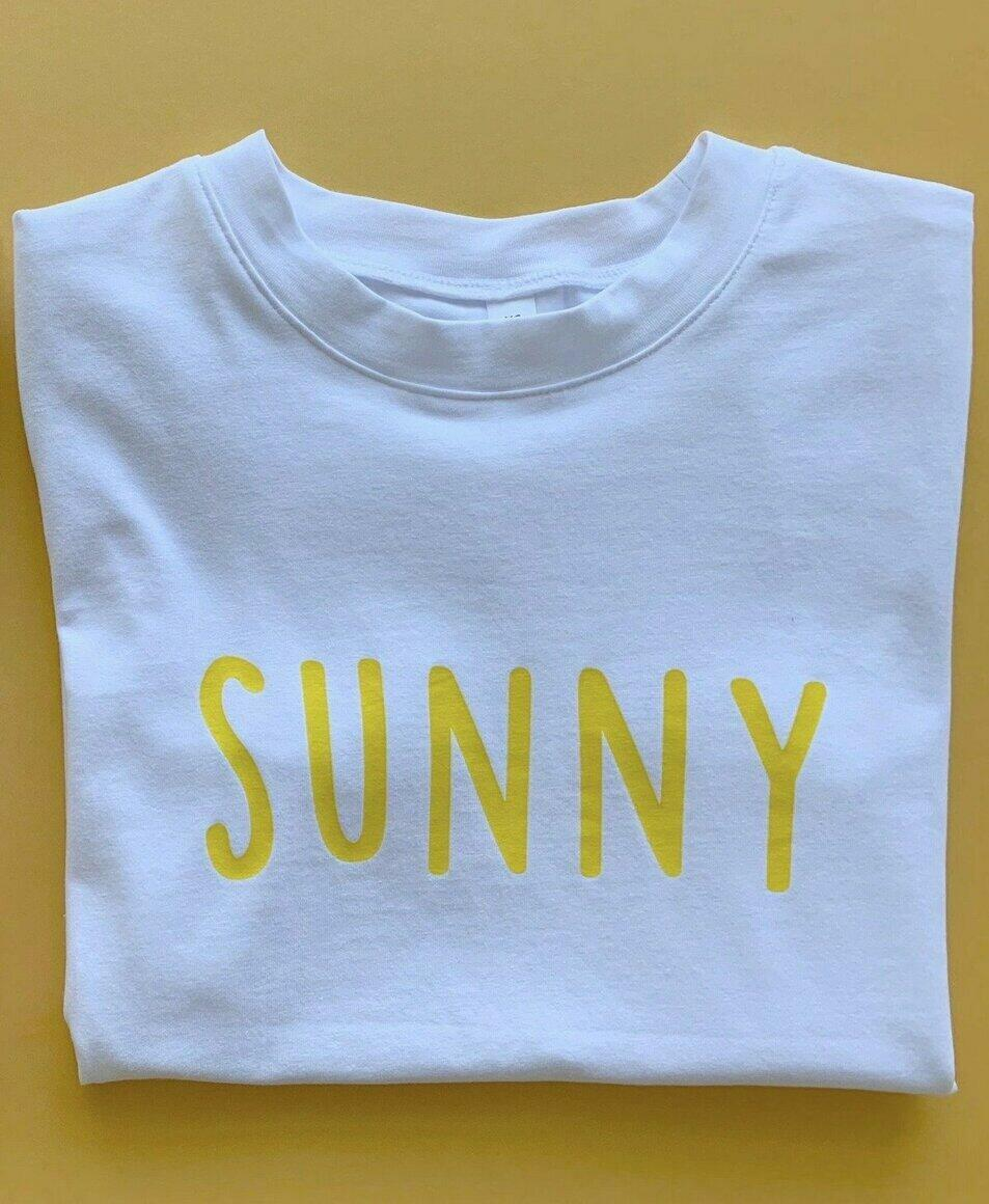 Sunny logo tee - white   Trada Marketplace