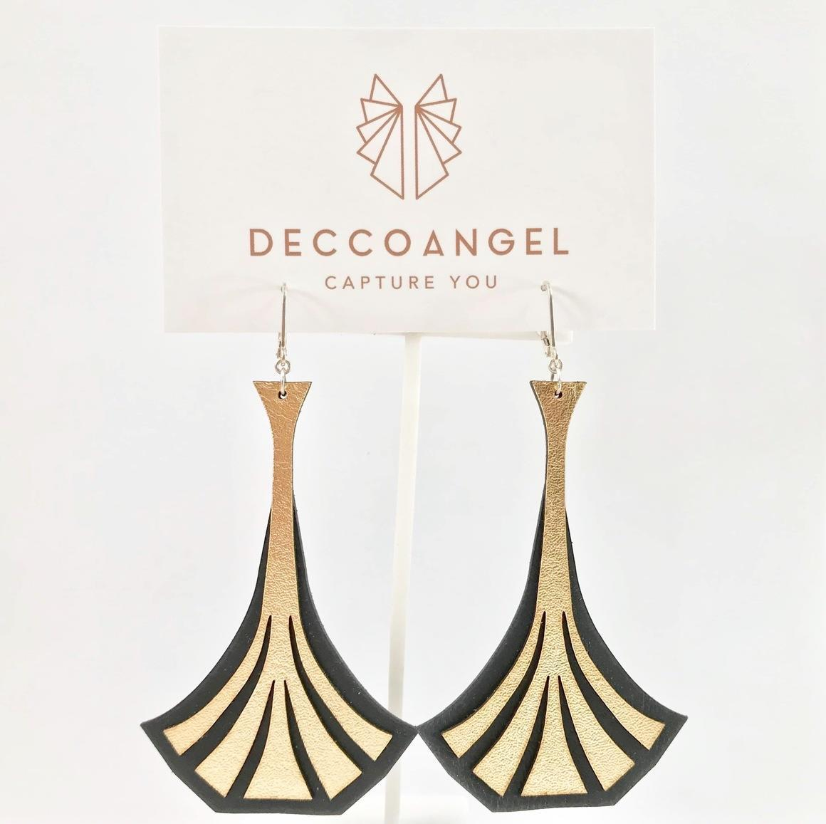 Art Deco Stem Earrings Large | Trada Marketplace