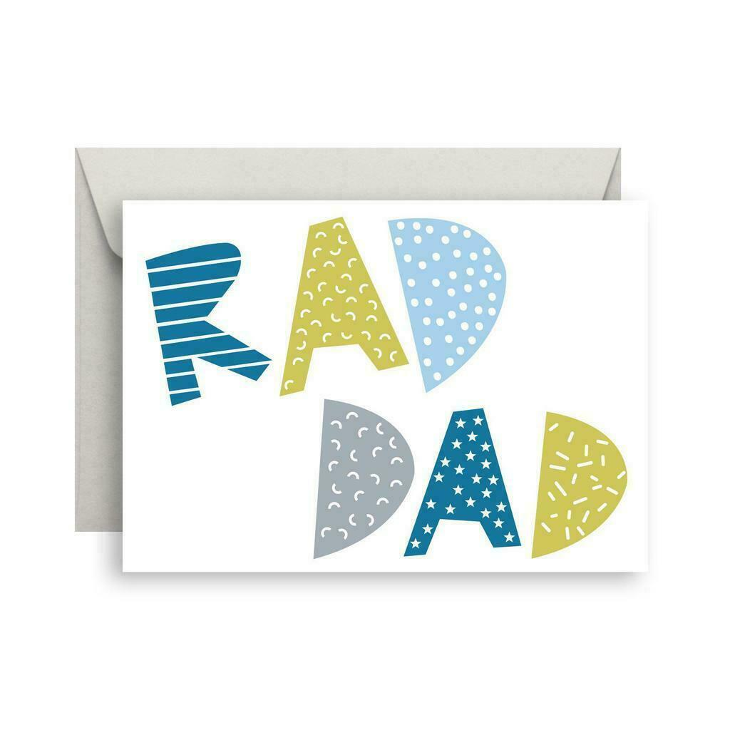 Rad Dad greeting card   Trada Marketplace