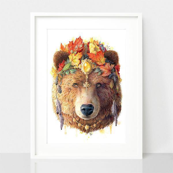 Bear Art Print - Spirit Animal Series | Trada Marketplace