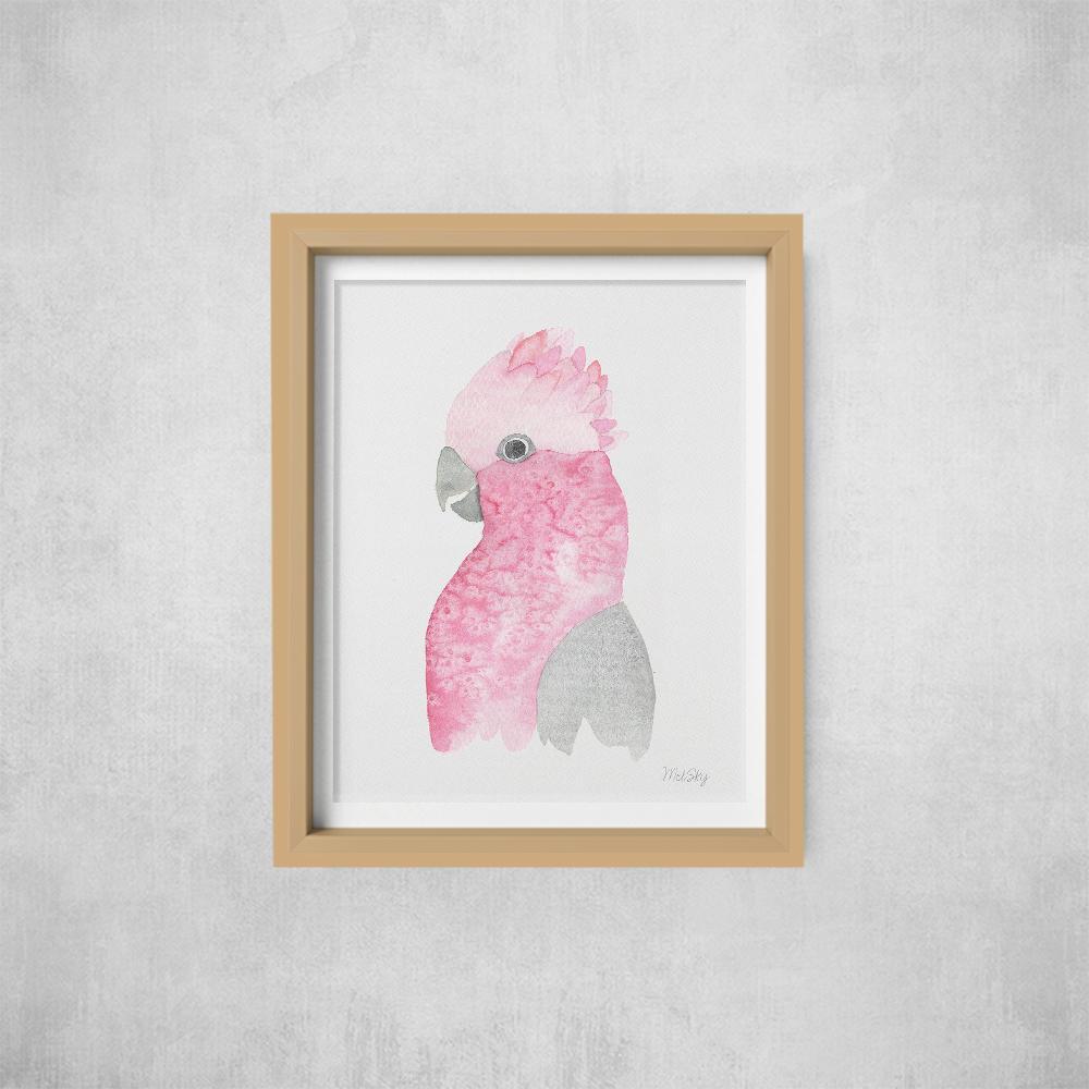 A4 Print -not framed Galah | Trada Marketplace
