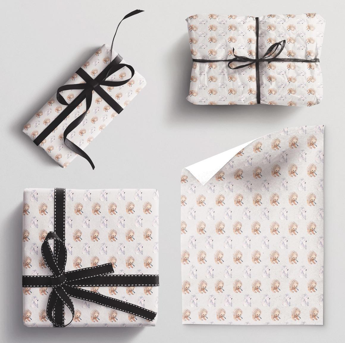 Wrapping paper single sheet Koala and Echidna | Trada Marketplace