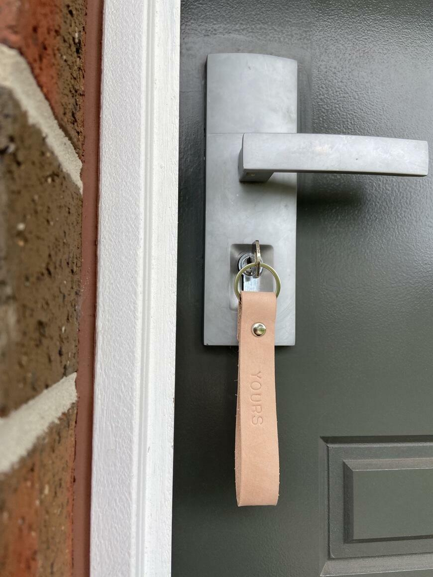 'YOURS' Leather key fob | Trada Marketplace