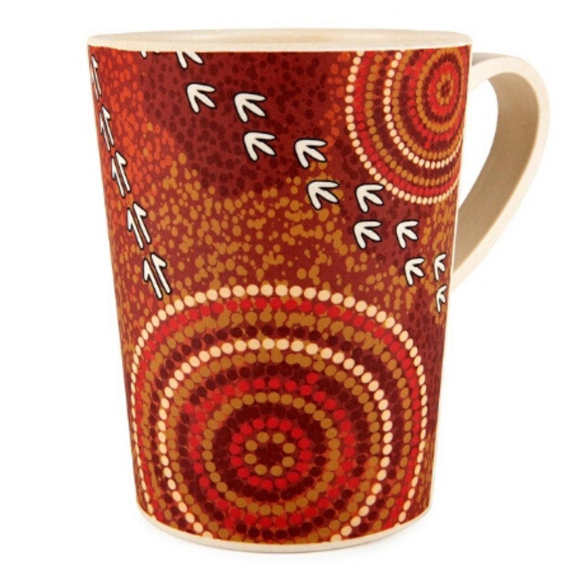 Coffee Mug Bamboo Aboriginal Design - Dry Design - Luther Cora     Trada Marketplace