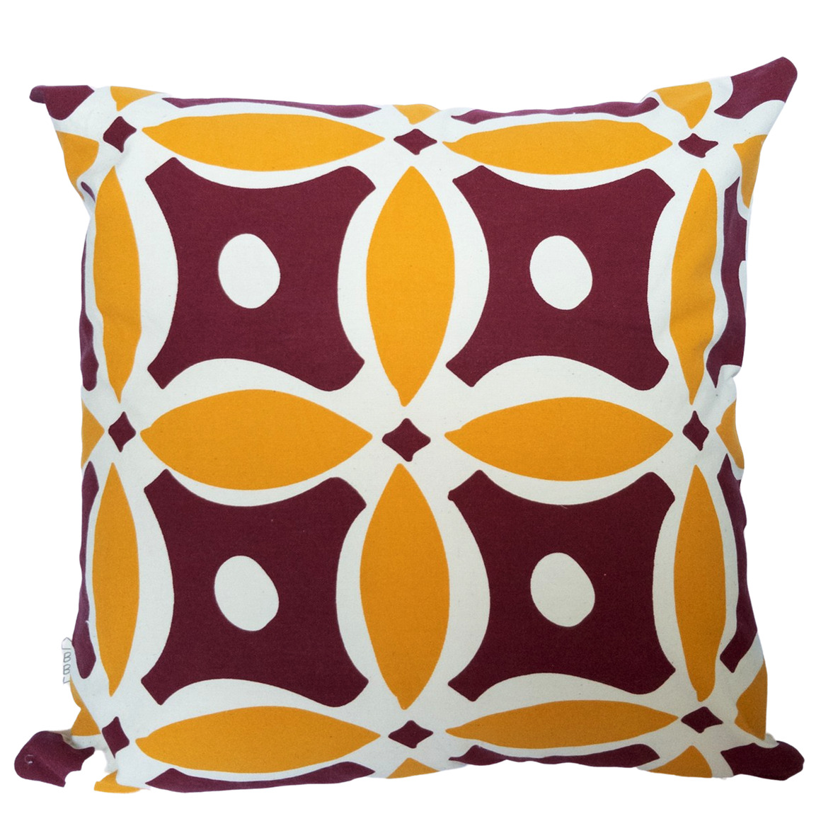 Vintage Inspired Geometric  Hand Screen Printed 100% cotton cushion cover-3 Colourways-Cover and Insert | Trada Marketplace