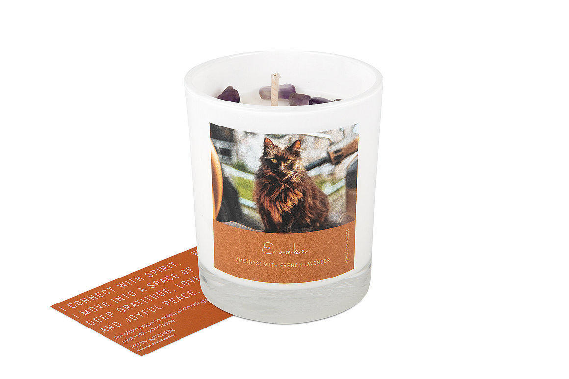 Evoke Ritual Candle - Amethyst with French Lavender   Trada Marketplace