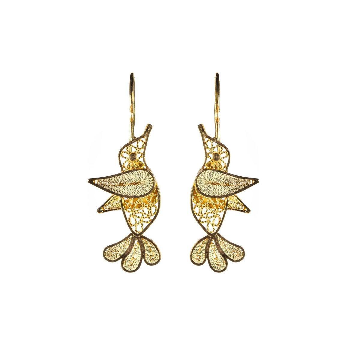 Hummingbird Filigree Earrings | Trada Marketplace