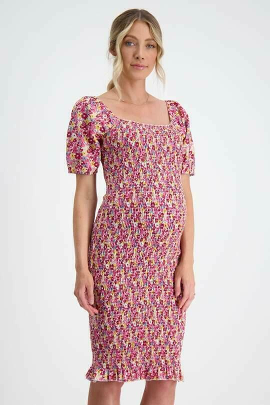 Confetti Shirred Maternity Dress | Trada Marketplace