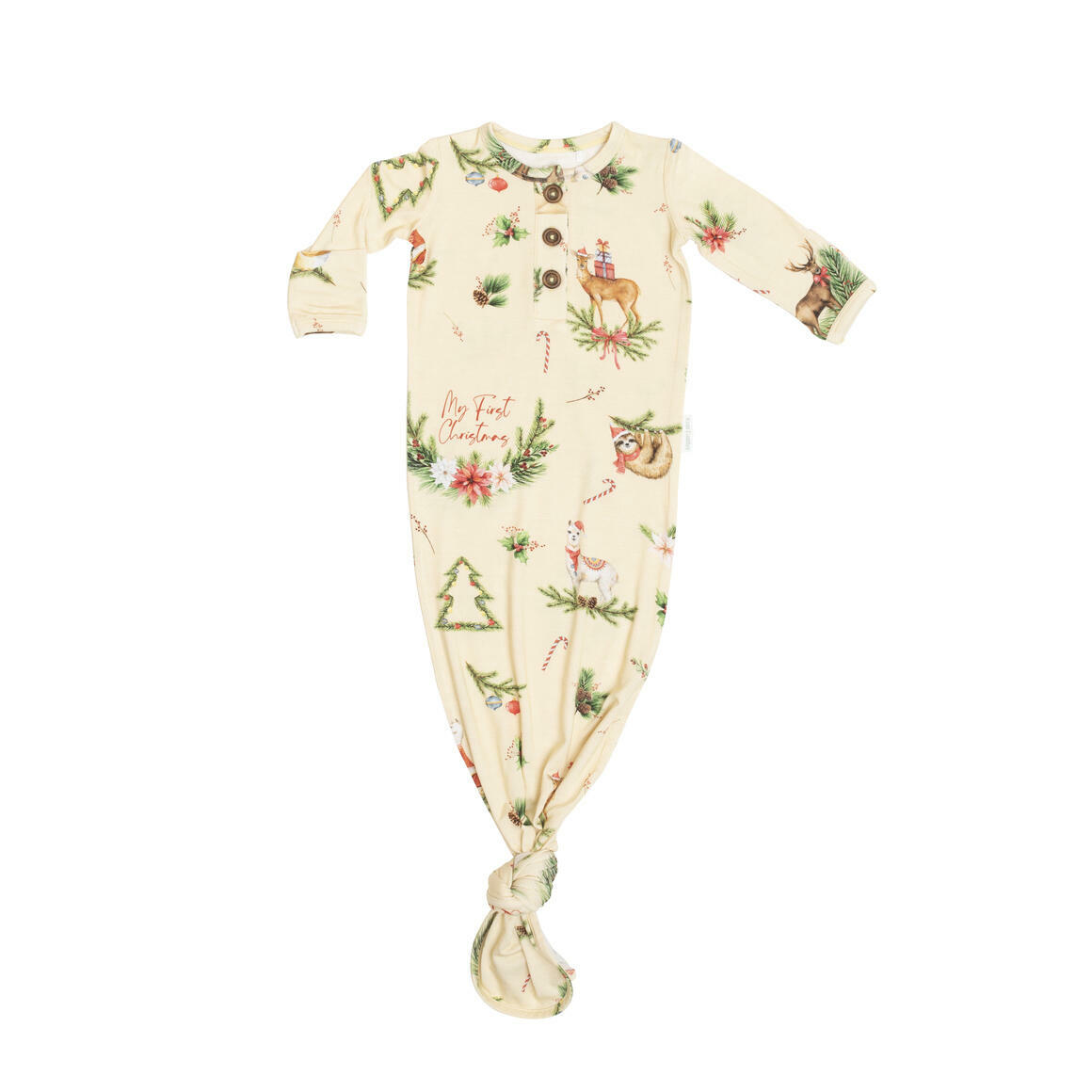 Baby Knotted Gown - Festive Fields | Trada Marketplace