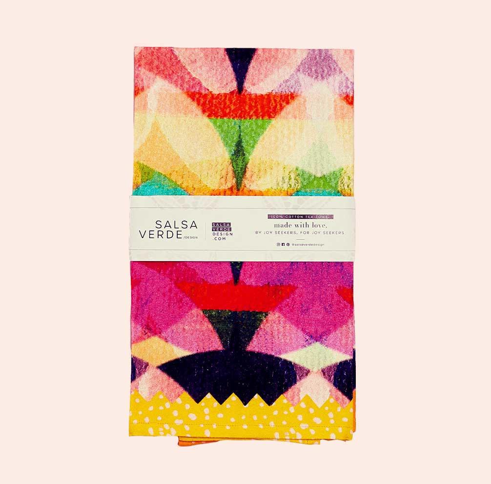 Kaleidoscope Tea Towel   Trada Marketplace