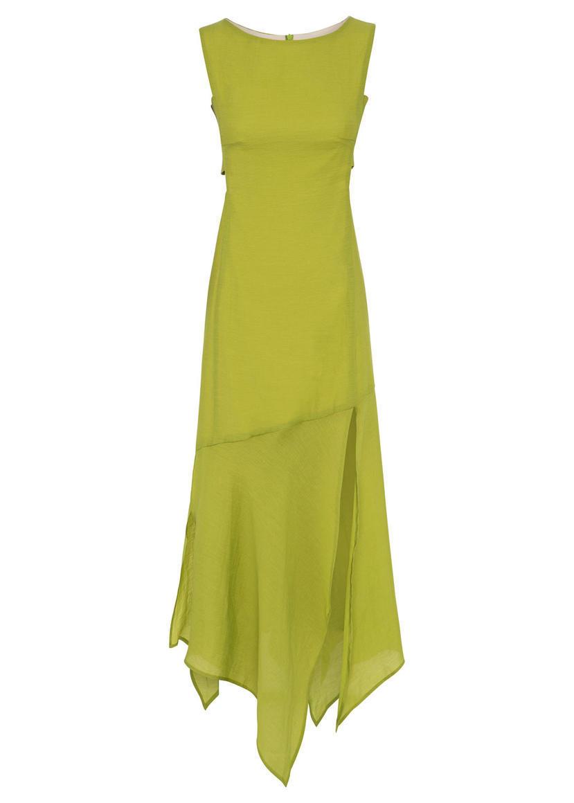 ELLE PANEL DRESS (CHARTREUSE GREEN) | Trada Marketplace