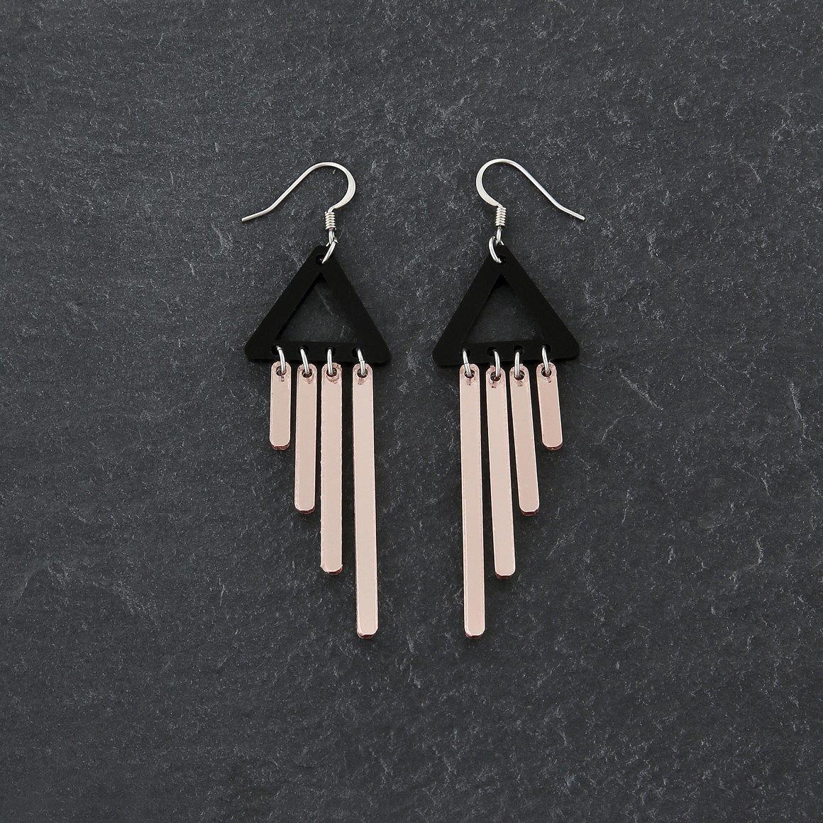 Dangle Earrings - COLOUR POP  CHIMETTES - Rose Gold | Trada Marketplace
