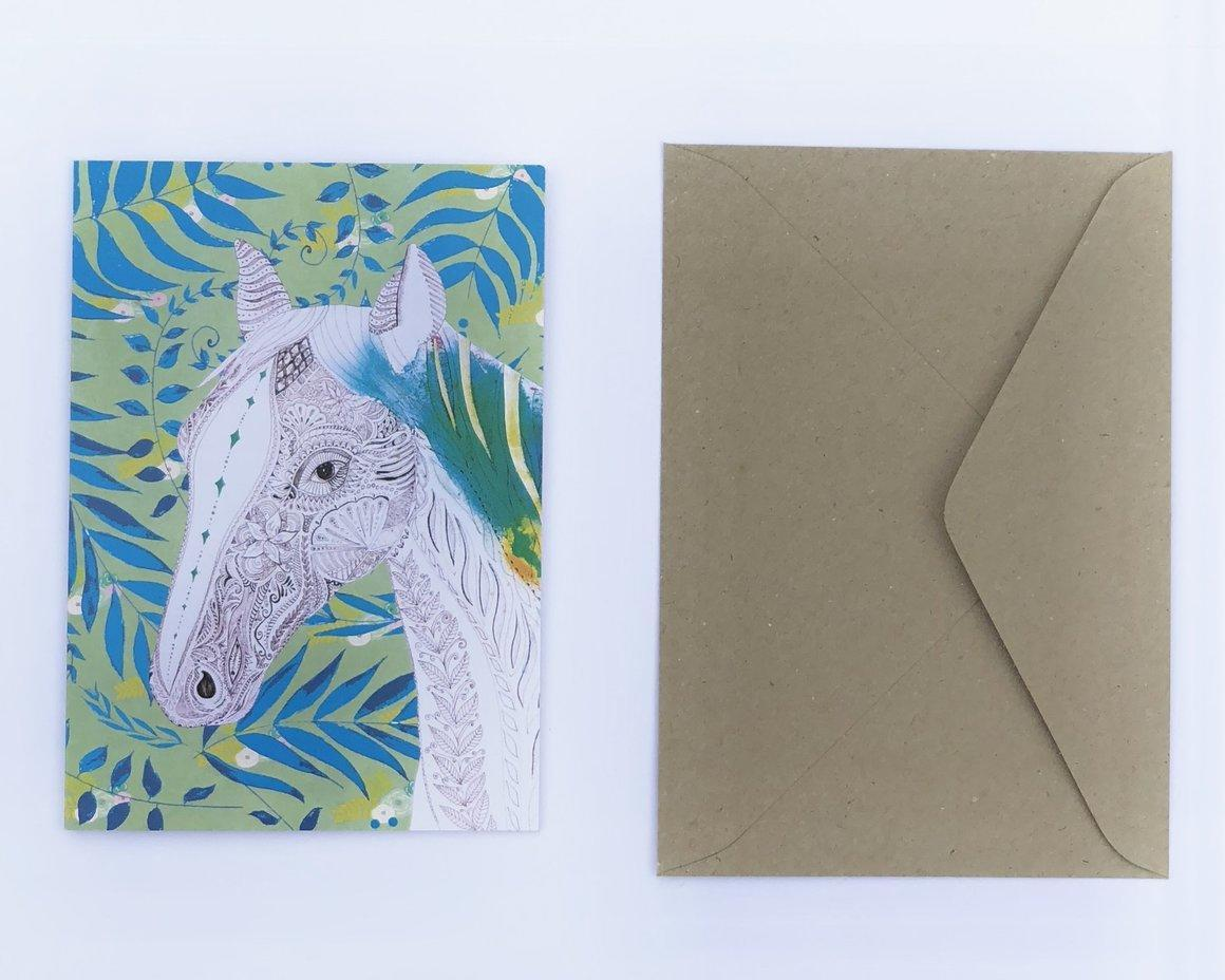 Horse 100% Recycled Greeting Card | Trada Marketplace