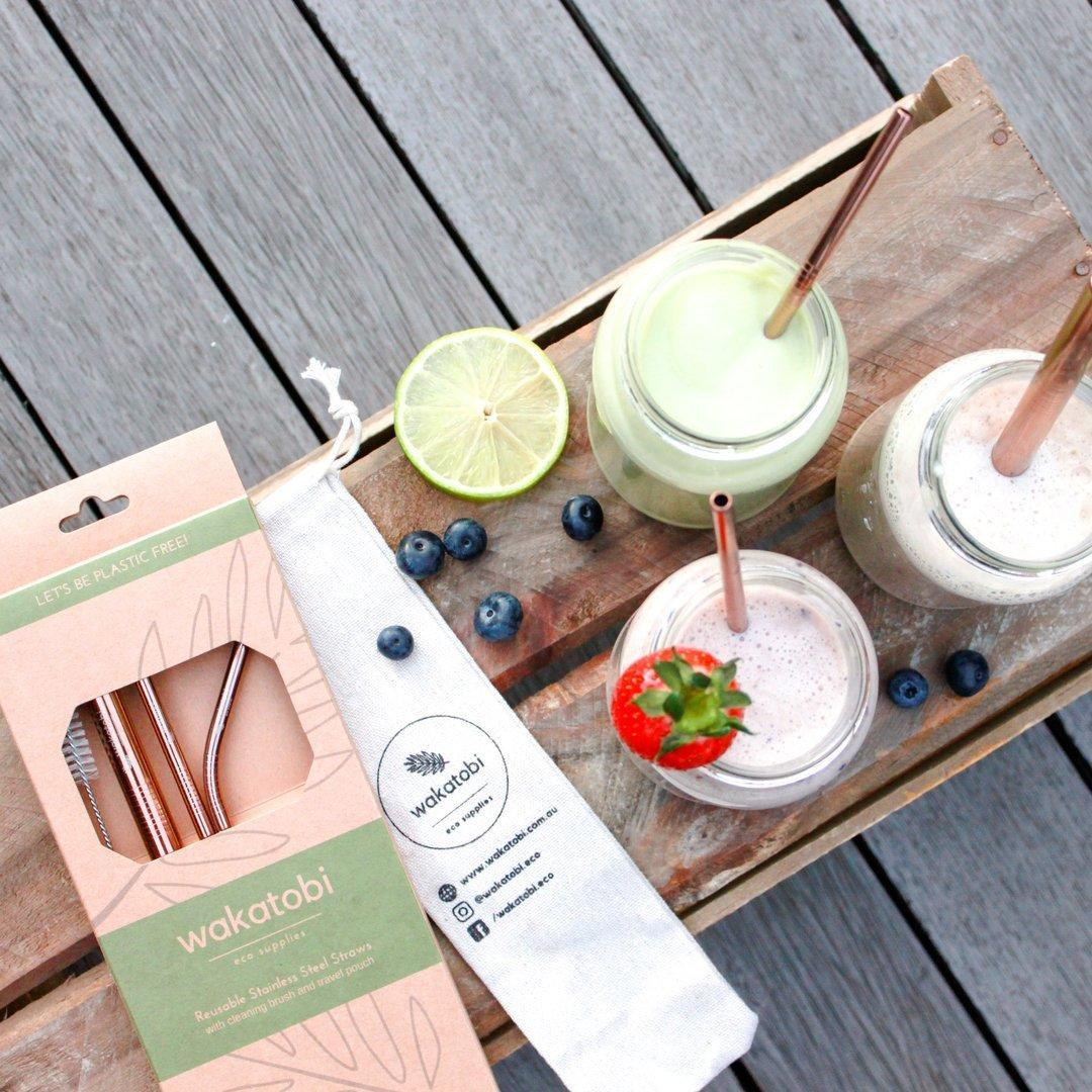Metal Straw Set with pouch   Trada Marketplace