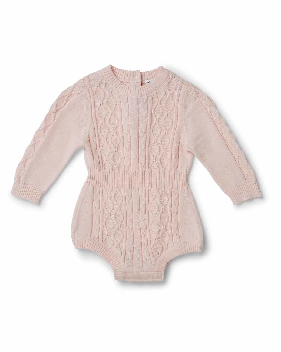 Atlas Short Onesie Pale Pink | Trada Marketplace