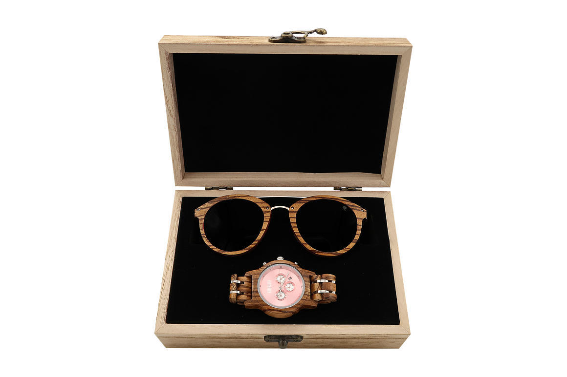 Wood Watch + Wood Sunnies combo 3 ( Trend + Bloom) | Trada Marketplace