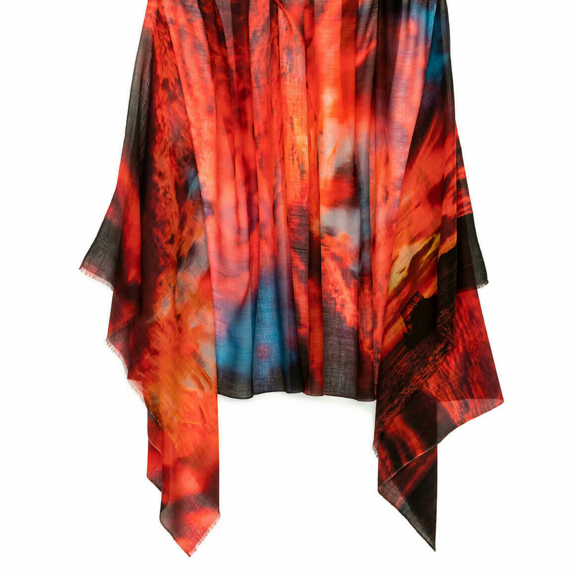 Red Hot Australian Merino Wool & Cashmere Scarf   Trada Marketplace