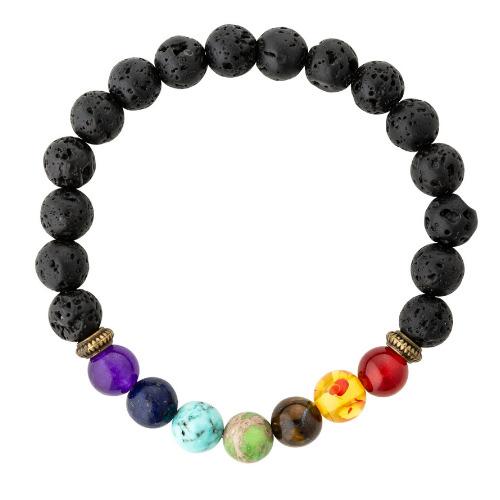 7 Chakra Healing Lava Rock Bracelet/Aromatherapy Oil Diffuser   Trada Marketplace