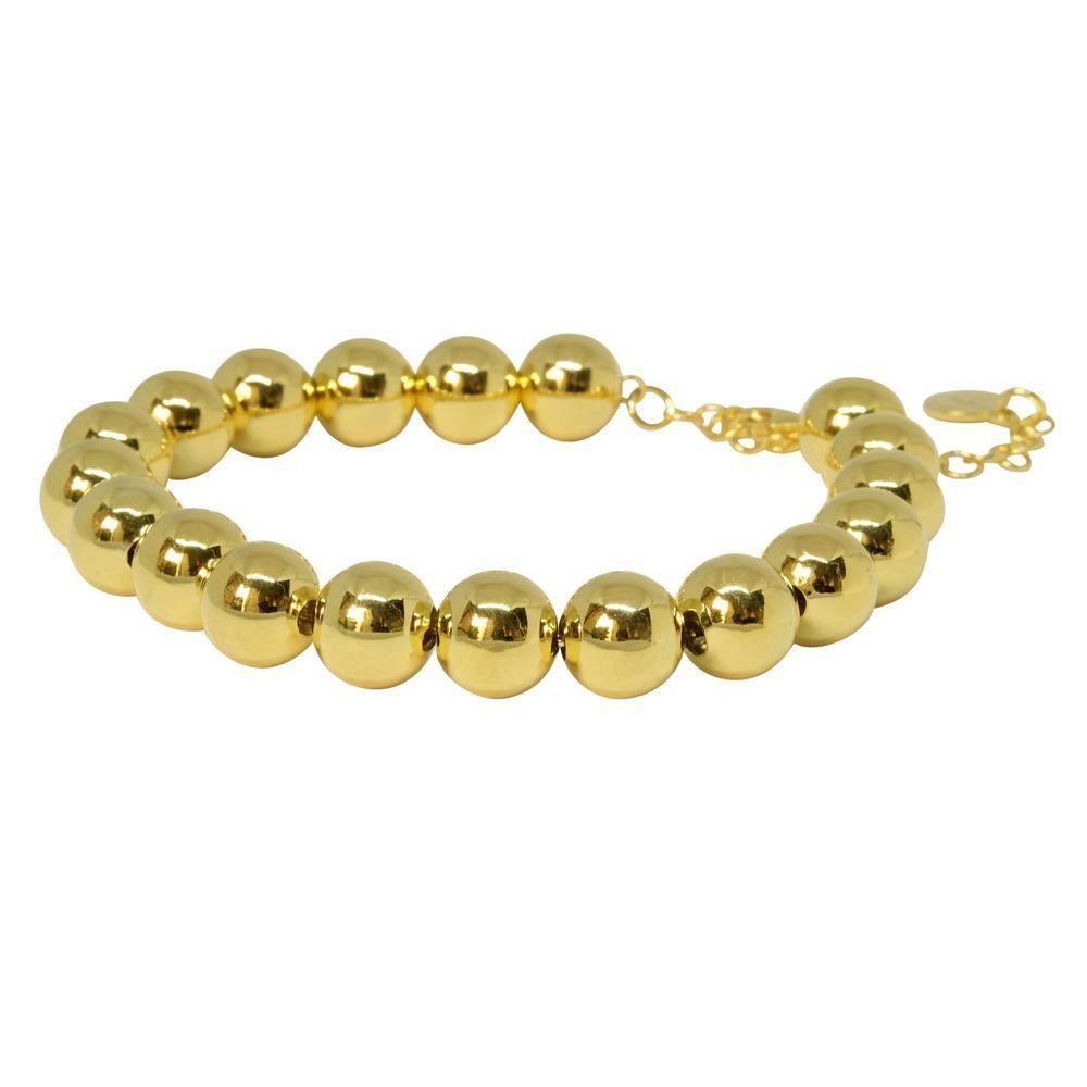 10mm Ball Bracelet - gold  | Trada Marketplace
